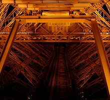 Eiffel Tower Elevator Shaft by Kalena Chappell