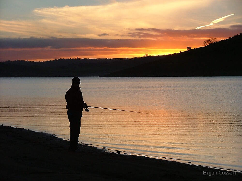 Lone fisherman by Bryan Cossart