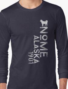 Nome, Alaska (White Silhouette Version) Long Sleeve T-Shirt