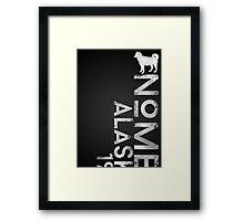 Nome, Alaska (White Silhouette Version) Framed Print