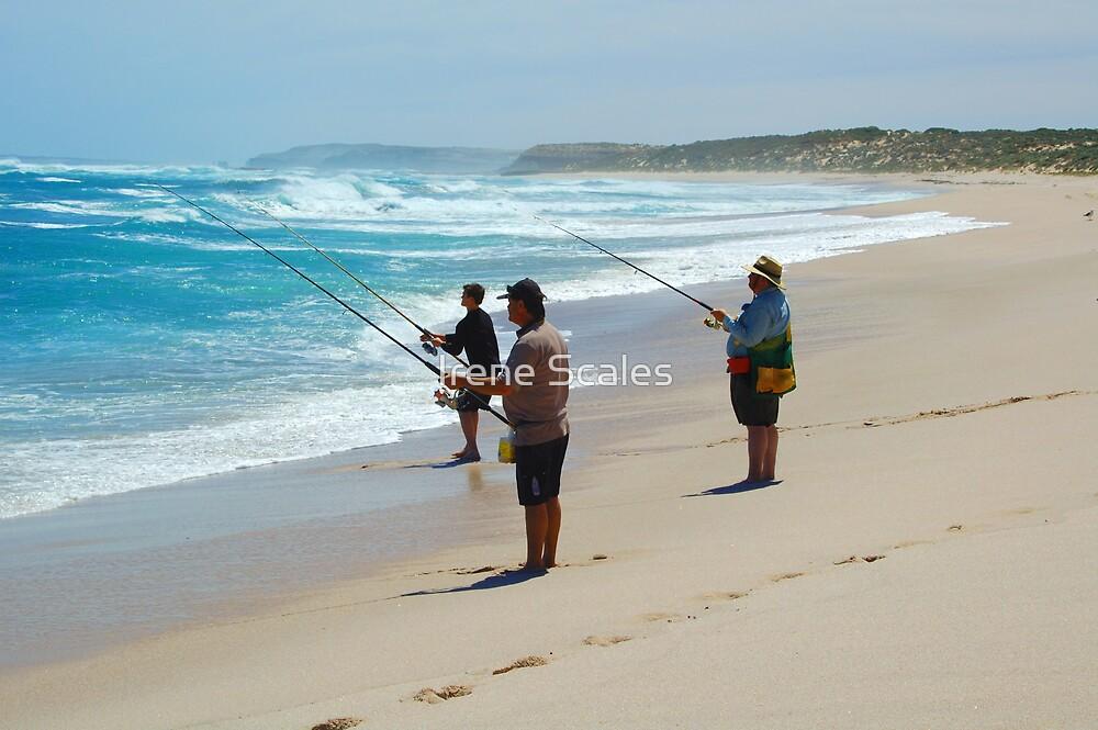 Beach Fishing by Irene Scales