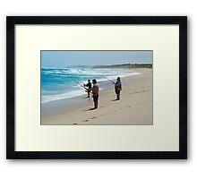Beach Fishing Framed Print