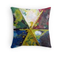 Paint Palette Throw Pillow