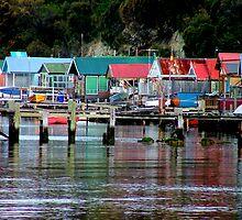 Hobart Fishing Shacks by Bryan Cossart