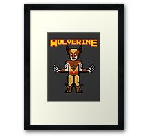 8Bit Wolverine (Brown) Framed Print