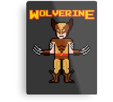8Bit Wolverine (Brown) Metal Print