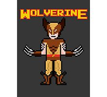 8Bit Wolverine (Brown) Photographic Print