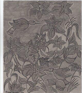 Birds Drawing  by mocha25