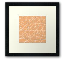 Peach White Abstract Stripes Framed Print