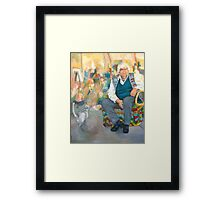 Ron Hartree, Artist, Teacher, Humanitarian Framed Print