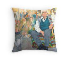 Ron Hartree, Artist, Teacher, Humanitarian Throw Pillow