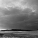 Maroubra, grafitti, afghan refugee, black and white, coast, storm by Jennifer  Jamie