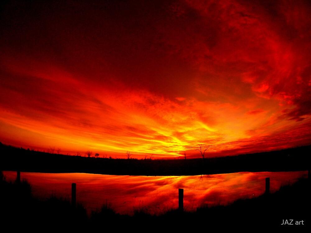 Mystery sunset... by JAZ art