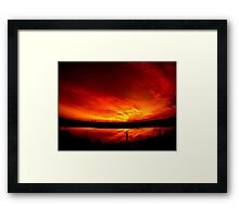Mystery sunset... Framed Print