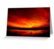 Mystery sunset... Greeting Card