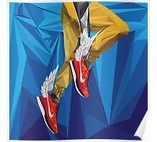 Mercury Fastening His Fly Kicks - Blue Poster