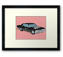 SuperWhoLocked in the Impala Framed Print