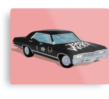 SuperWhoLocked in the Impala Metal Print