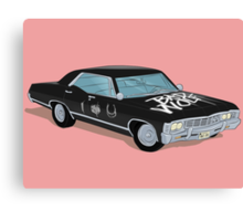 SuperWhoLocked in the Impala Canvas Print