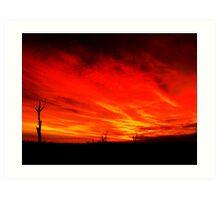 Mystery Sunset...2 Art Print