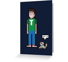 8Bit Tobuscus  Greeting Card