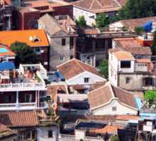 Rooftops of Gulangyu Sticker
