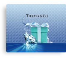 Tiffany Blue Box & Huge Diamond Canvas Print