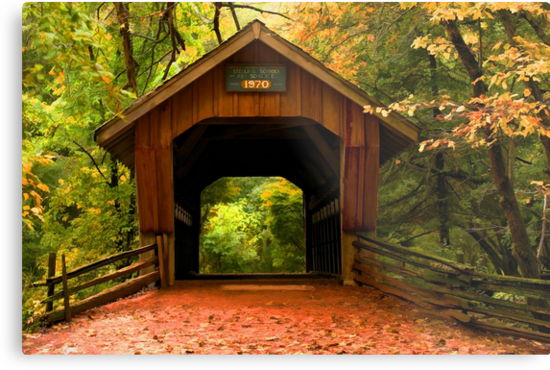 Covered Bridge,Little Hope Wisconsin  by JohnDSmith