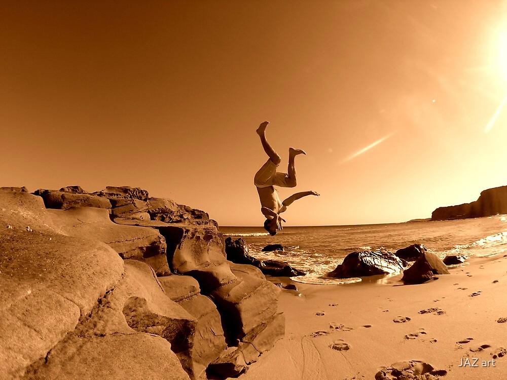 Beach Back Flip... by Jarrod Lees
