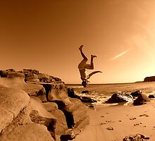 Beach Back Flip... by Jarrod Lees