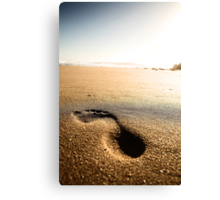 Footprint Canvas Print