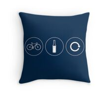 Ride. Relax. Repeat. Throw Pillow