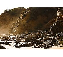 Seaspray rocky shore Photographic Print