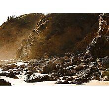 Seaspray rocky shore Photographic Print