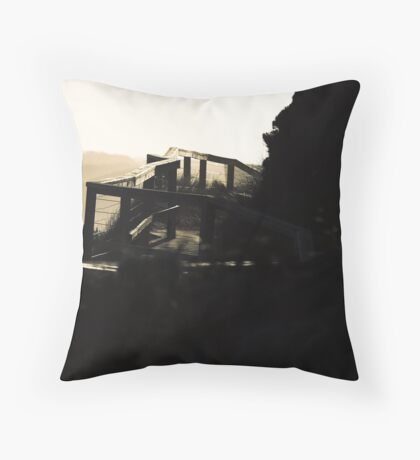 Trail into the light Throw Pillow