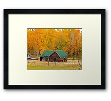 Cabin Near the Woods Framed Print
