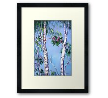 Tambo Trees with some local Residents. Framed Print