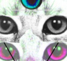 Illuminated glitch cat Sticker