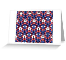cascade - red/white/blue Greeting Card