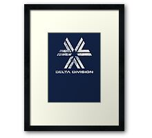 Almost Human Delta Division (White) Framed Print