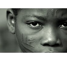 Scarification in Africa Photographic Print