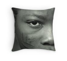 Scarification in Africa Throw Pillow