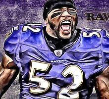 NFL Baltimore Ravens Legend Ray Lewis by Dan Snelgrove