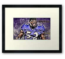 NFL Baltimore Ravens Legend Ray Lewis Framed Print