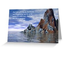 Genesis 1:10 Greeting Card