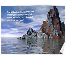 Genesis 1:10 Poster