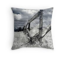 Barbed-wire Fence  Throw Pillow