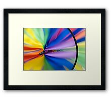 Wind Vane - A spiral wind vane made of colorful strips of cloth and sprockets Framed Print