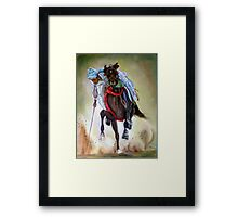 polo player Framed Print