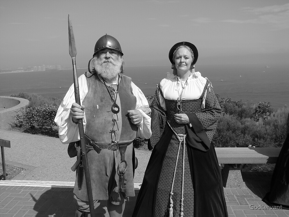 1800s  Lighthouse Keepers in B&W by Godservant